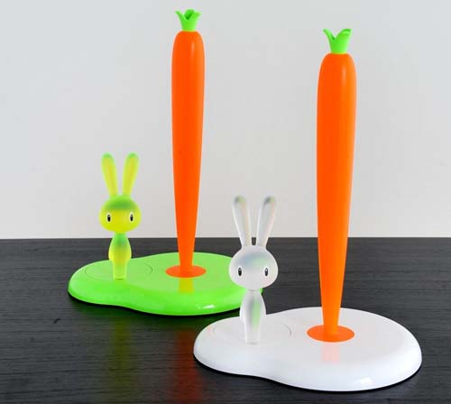 Alessi Bunny  / Rabbit  and carrot kitchen roll holder