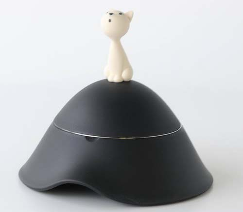 Alessi Mio Cat food bowl with lid