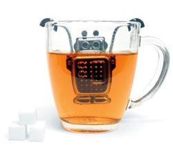 Kikkerland Stainless Steel Robot Tea Infuser